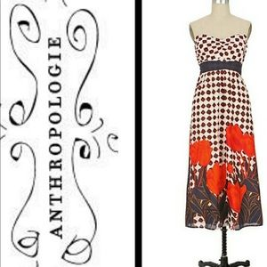 Anthropologie Dresses - Strapless Anthropologie Maeve Summer Maxi Dress